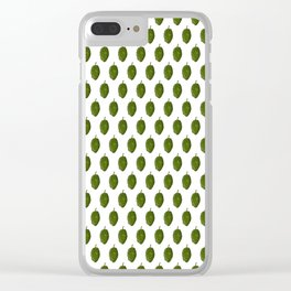 Hopw White Pattern Clear iPhone Case