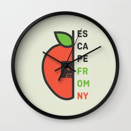 Escape From New York Minimalist Wall Clock