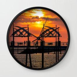 California Dreaming - Redondo Beach Pier Wall Clock