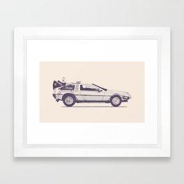 Famous Car #2 - Delorean Framed Art Print