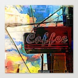 Urban Coffee Joint Canvas Print