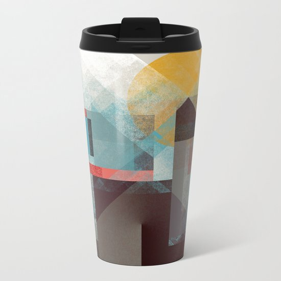 Over mountains Metal Travel Mug