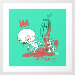 My little zombie - green version Art Print