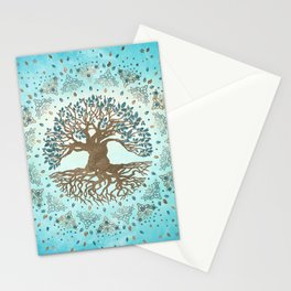 Tree of Life - Yggdrasil - Gentle blue Stationery Cards