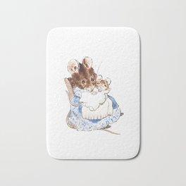 Mrs Mouse and baby Peter Rabbit  Beatrix Potter Bath Mat