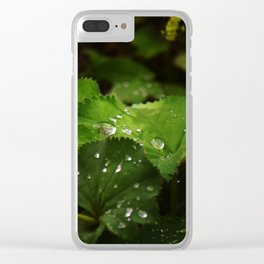 Shot with Dew Clear iPhone Case