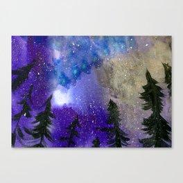 Northern Lights - Dark Blue Palette Canvas Print