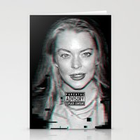 lindsay lohan Stationery Cards featuring lYNDSAY lOHAN IS better THAN you by Tiaguh