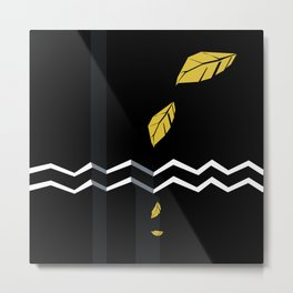 Meraki Fall [Gold Noir] Metal Print