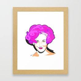 Drew Barrymore Framed Art Print