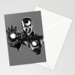 Iron Man (Greyscale Sketch #9) Stationery Cards