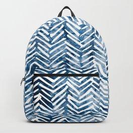 Boho Blue Shibori Tribal Pattern Backpack