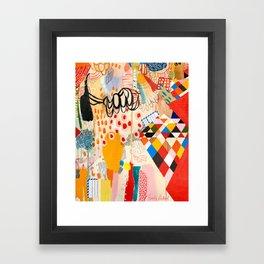 Wallpaper and Diamonds Part II Framed Art Print