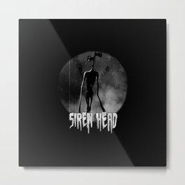 Scary Siren Head vintage meme Metal Print