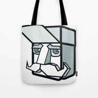 the dude Tote Bags featuring DUDE by Serhiy FE