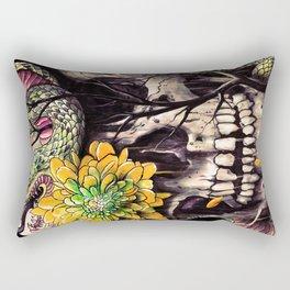 Snake and Skull Rectangular Pillow