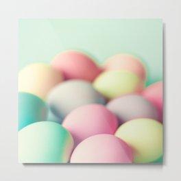 Colored Laid Eggs Metal Print