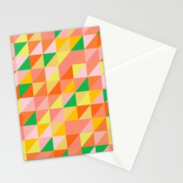 Geometric Citrus Pattern Stationery Cards