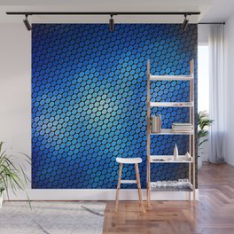 Blue LED Abstract Art Design Wall Mural