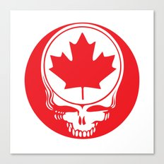 Canadian Steal Your Face (variation#4) Canvas Print