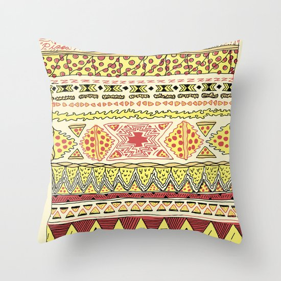 Pizza Pattern Throw Pillow