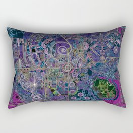 """non-existing"" city ""existing"" map Rectangular Pillow"
