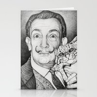 dali Stationery Cards featuring Dali by Alice Macarova