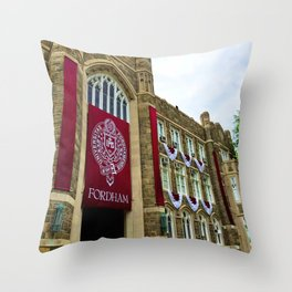 Keating Hall at Fordham University Commencement  Throw Pillow