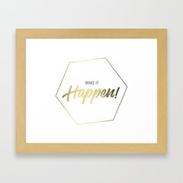 Inspiring Gift Ideas for Entrepreneurs #3 - Gold on White Framed Art Print