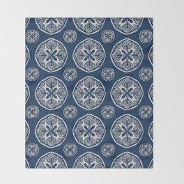 Shibori Cutlings Throw Blanket