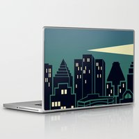 montreal Laptop & iPad Skins featuring Montreal Skyline by Wheel of Fortune