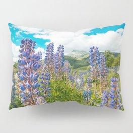 Lupines Mountain Flowers Pillow Sham