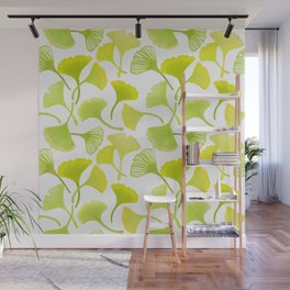 First Day of Autumn Ginkgo Leaves Wall Mural