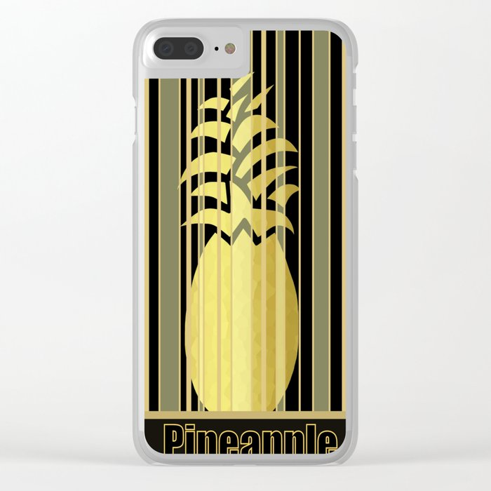 Pineapple Glam Clear iPhone Case