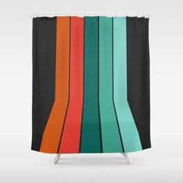 Flipside - 70's style trendy throwback retro gifts 1970s abstract art Shower Curtain