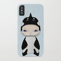 killer whale iPhone & iPod Cases featuring A Boy - Killer Whale by Christophe Chiozzi