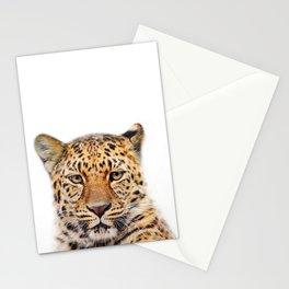 Leopard Animal Art Print by ZouzounioArt Stationery Cards