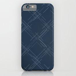 Cross Hatch in Blue iPhone Case