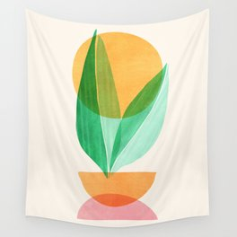 Summer Stack / Abstract Plant Illustration Wall Tapestry