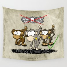 Protest Monkeys Wall Tapestry