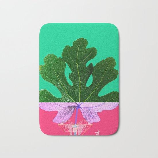Fig Leaf Diamond Christmas - Other Half and Half Bath Mat