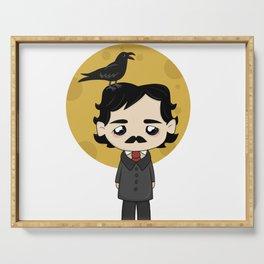 Cute Edgar Allan Poe Serving Tray