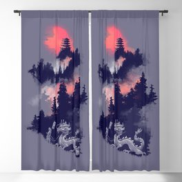 Samurai's life Blackout Curtain