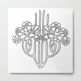 Black and White Design Metal Print