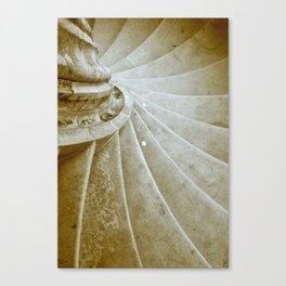 Sand stone spiral staircase 17 Canvas Print