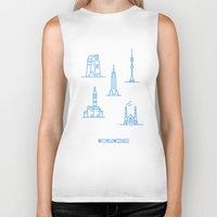 cities Biker Tanks featuring Cities Worldwide by Sergii Rodionov