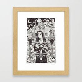 Nun After Buring Framed Art Print