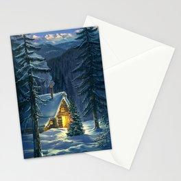Christmas Snow Landscape Stationery Cards