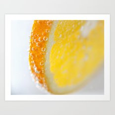 Bubble Orange Art Print