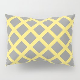 Grey and Yellow Grill Pillow Sham